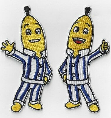 1SETOF 2 BANANAS IN PYJAMAS IRON ON  PATCHES BUY 2 sets GET 3 SETS