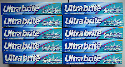 Ultra Brite lot de 10 tubes dentifrice 75 ml