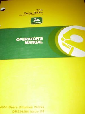 John Deere 705 Twin Rake Operator's Manual 1998