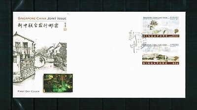 Singapur Singapore 1996 Minr 815-816 FDC joint issue China town Panmen