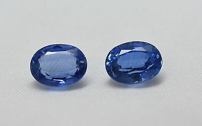 100% NATURAL FACETED KYANITE OVAL PAIR BEST QUALITY KYANITE GEMSTONE SIZE  7x9