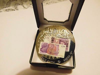 """Adam Smith Series """" F """" 20 Pounds Banknote Coin"""