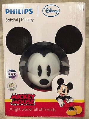 Philips Disney Mickey Mouse SoftPal Portable LED Night Light Lamp Kids Room New
