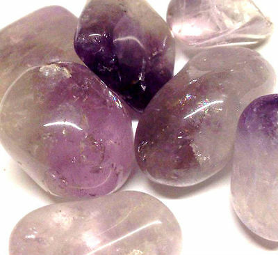 x1 Genuine Natural Amethyst Crystal Tumbled Stone