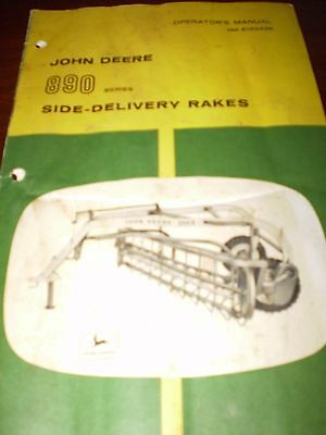 John Deere No 890 Series Side-Delivery Rakes Operator's Manual