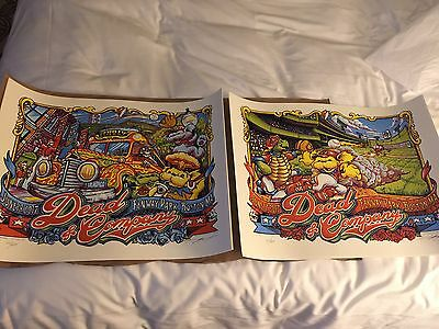AJ Masthay - Dead And Company Co Fenway Park Boston Poster Set- 6/17 & 6/18