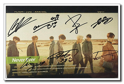 Signed GOT7 in-album PROMO Photo Handsigned Autograph Authentic onsale