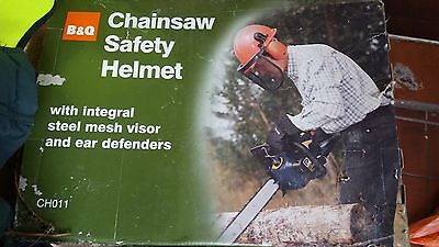 chainsaw safety helmet and gloves