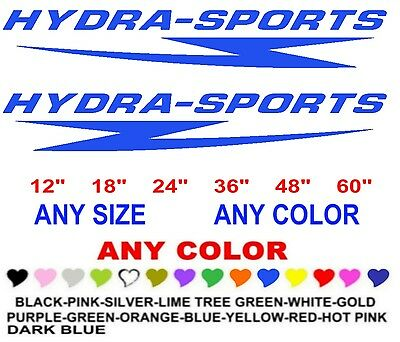 HYDRA-SPORTS  stickers decals   ANY COLOR   ANY SIZE   BOAT HYDRA SPORTS