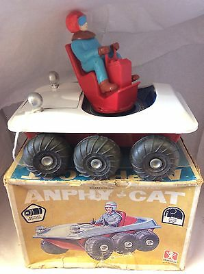 Vintage tinplate Anphy-Cat Bandai Japan battery operated