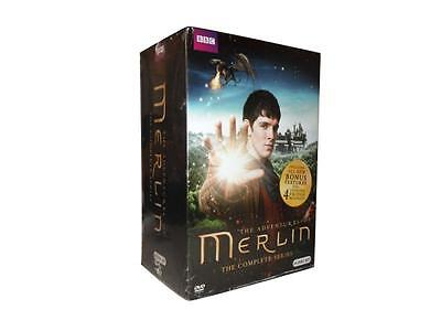 Merlin: The Complete Series Seasons 1-5 (DVD, 2014, 24-Disc Set) 1 2 3 4 5