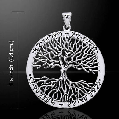 Sterling Silver Theban Tree Of Life Pendant By Peter Stone. Pagan/Wiccan/Druid