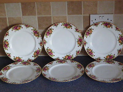 Royal Albert Old Country Roses Dinner Plates X6 1St Quality, Dinner Service ,