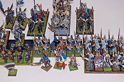 Warhammer Fantasy Age of Sigmar High Elves Grand Alliance OOP well painted Army