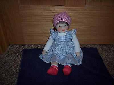 Original Kathe Kruse Doll Soft Body Toddler Girl Germany Painted Eyes/face 13""