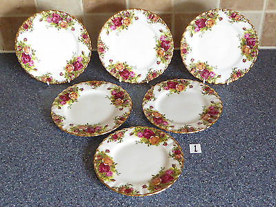 Royal Albert Old Country Roses 16 Cm  Plates X6 1St Quality, Dinner Service