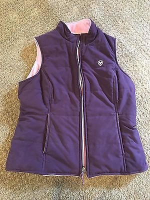 Ariat Woman's Reversible Riding Soft Shell Vest Medium