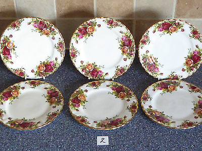 Royal Albert Old Country Roses 16 Cm  Plates X6 1St Quality, Dinner Service,