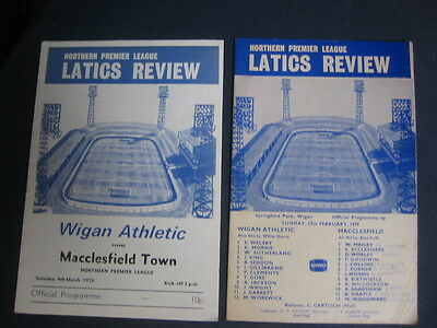 Wigan Athletic  V Macclesfield Town   1977/78    Northern Premier League