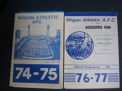 Wigan Athletic  V Macclesfield Town    1976/77     Northern Premier League