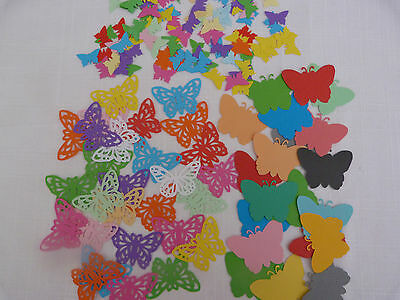 100 assorted butterflies shapes  80 gsm paper craft scrapbooking cardmaking