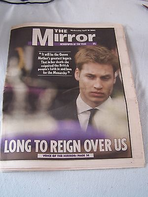 The Mirror newspaper 10 April 2002 Queen Mothers funeral edition