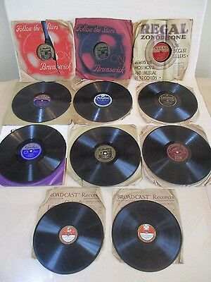 Collection Of Vintage 78 Rpm Shellac Records - Ink Spots/bing Crosby/ruby Murray