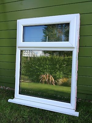 VEKA white UPVC double glazed window with sill