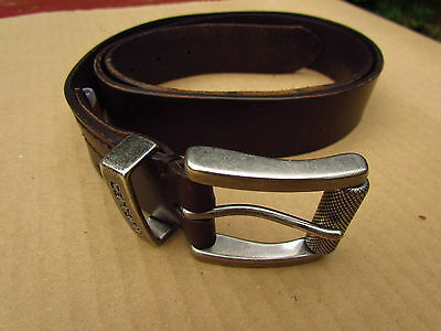 """Mens Carhartt Brown Leather Belt 42 2"""" Buckle Style 2222"""