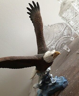 Crystal Cathedral Ceramic Painted Eagle Statue