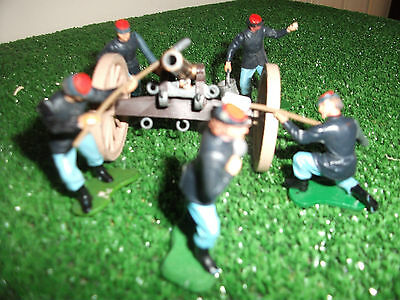 Britains American Civil War Gun & crew Union 1/32