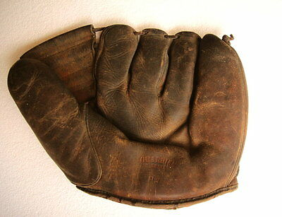 Vintage GUARDIAN BRAND Baseball Glove: Model PWF Fielder's; Buhl & Sons Detroit