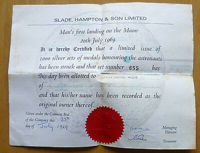 Man's First Landing On The Moon – Silver Five Medallion Set - Still Sealed!!