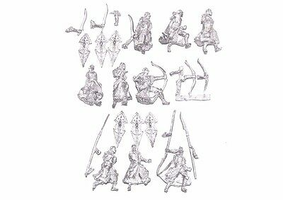 Unreleased Miniatures Noble Elves Army 25/28 mm Kingsguards Shields Bows Spears