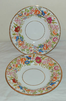 Hammersly English Fine China 2 Soup Bowls Queen Anne Pattern In Good Condition