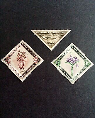 Costa Rican stamps 1937 national exhibition unused old stamps Costa Rica
