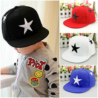 Kids Boys Girls Baseball Cap Hip Hop Snapback Casual Infant Adjustable Hat Sport