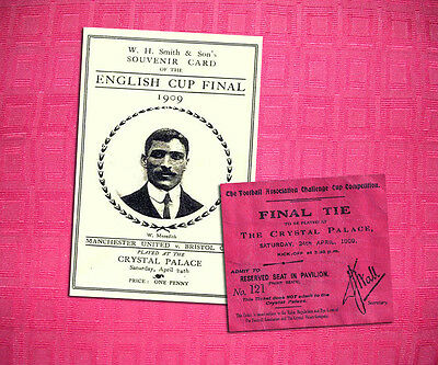 Manchester United Bristol City 1909 Fa Cup Final Programme And Ticket Repro