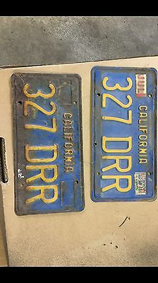 1970 California Blue And Gold License Plates