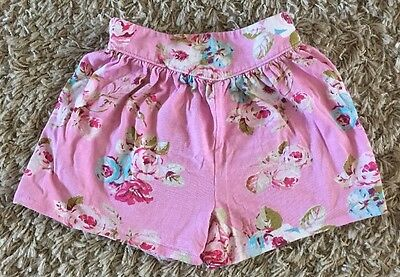 Pretty Pink Next Floral Culottes Shorts Age 2-3