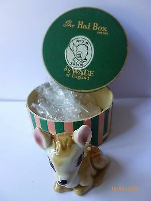 Wade Whimsie Bambi With Original Hat Box 2 Disney