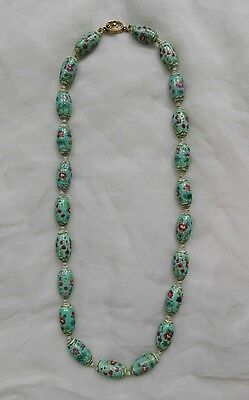 Vecchia collana cinese in porcellana - Old chinese famille rose necklace