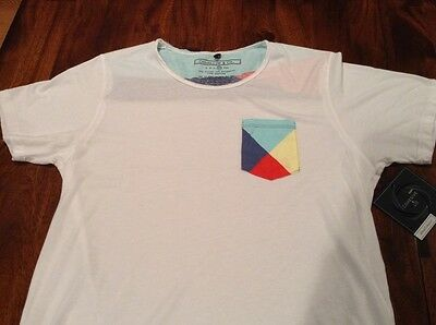 Mens Cohesive & Co. T-shirt Size XL NWT White Blue Red