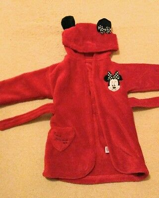 Disney Minnie mouse red dressing gown 6-12 months