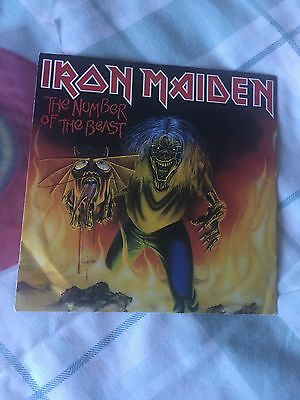 """Iron Maiden The Number Of The Beast 7 """" Red Vinyl"""