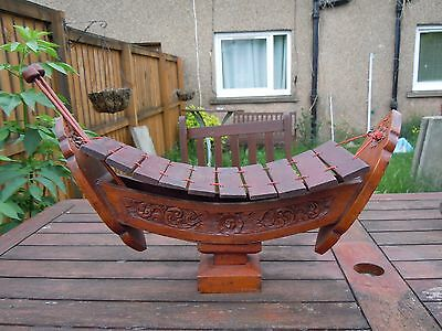 Oriental Hand Carved , Wooden Percussion Ranaad Xylophone.