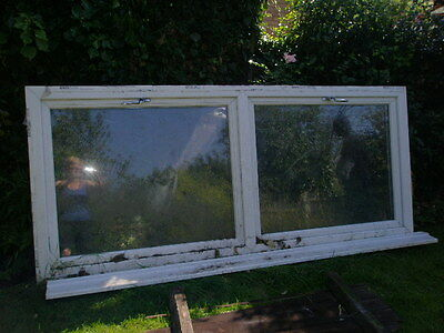 White Double Glazed Uvpc Double Window