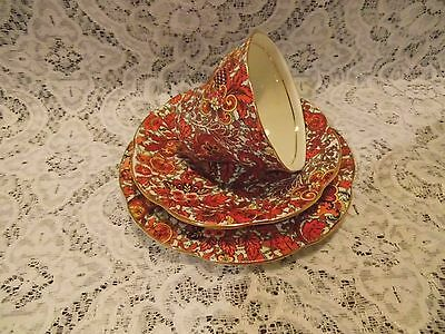 "ROSINA BONE CHINA MADE IN ENGLAND "" CHINTZ "" pattern Tea Cup With Saucer"