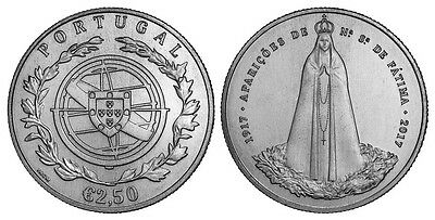 CENTENNARY OF FÁTIMA 2.50€ Uncirculated