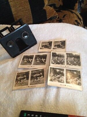 The Camerascope Foldable Stereoscope 3D Vintage Antique 1920s Viewer& Pictures